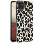 iMoshion Design hoesje Samsung Galaxy A12 - Luipaard - Goud / Zwart
