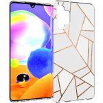 iMoshion Design hoesje Galaxy A32 (5G) - Grafisch Koper - Wit / Goud