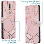 iMoshion Design Softcase Book Case Nokia 2.4 - Pink Graphic