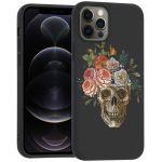 iMoshion Design hoesje iPhone 12 (Pro) - Doodshoofd - Multicolor