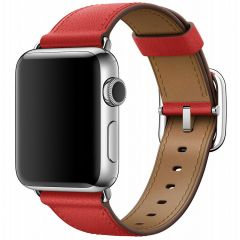 Apple Leather Band Modern Buckle Apple Watch Series 1-7 / SE - 38/40mm - Rood