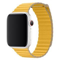 Apple Leather Loop Apple Watch Series 1-7 / SE 42/44mm - Geel