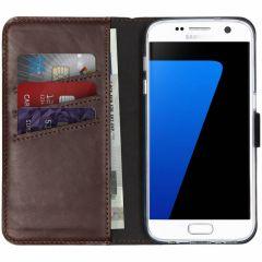 Selencia Echt Lederen Booktype Samsung Galaxy S7