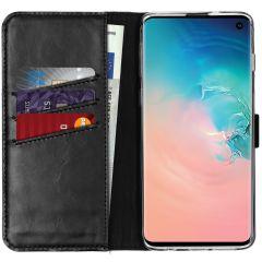Selencia Echt Lederen Booktype Samsung Galaxy S10