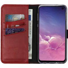 Selencia Echt Lederen Booktype Samsung Galaxy S10e - Rood