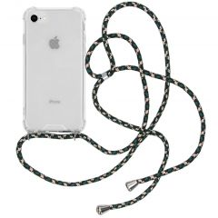 iMoshion Backcover met koord iPhone SE (2020) / 8 / 7 - Groen