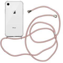 iMoshion Backcover met koord iPhone Xr - Rosé Goud