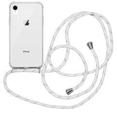 iMoshion Backcover met koord iPhone Xr - Wit Zilver