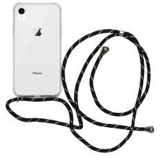 iMoshion Backcover met koord iPhone Xr - Zwart Goud
