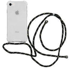 iMoshion Backcover met koord iPhone SE (2020) / 8 / 7 - Zwart Goud