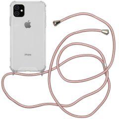 iMoshion Backcover met koord iPhone 11 - Rosé Goud