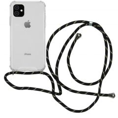 iMoshion Backcover met koord iPhone 11 - Zwart Goud
