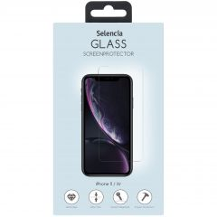 Selencia Gehard Glas Screenprotector iPhone 12 (Pro) / 11 / Xr