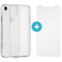 iMoshion Softcase Backcover + Glass Screenprotector iPhone Xr