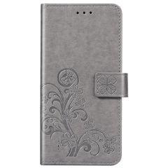 Klavertje Bloemen Booktype Samsung Galaxy A01 - Grijs