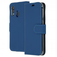 Accezz Wallet Softcase Booktype Samsung Galaxy A40 - Blauw
