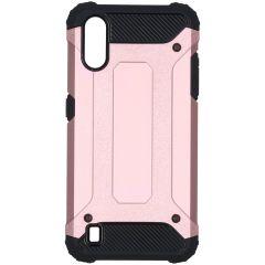 iMoshion Rugged Xtreme Backcover Samsung Galaxy A01 - Rosé Goud
