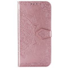 Mandala Booktype Motorola One Hyper - Rosé Goud