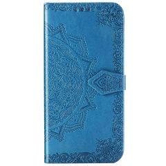 Mandala Booktype Motorola One Hyper - Turquoise