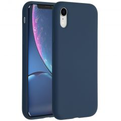 Accezz Liquid Silicone Backcover iPhone Xr - Blauw