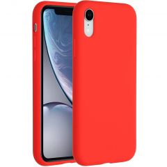 Accezz Liquid Silicone Backcover iPhone Xr - Rood