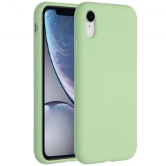 Accezz Liquid Silicone Backcover iPhone Xr - Groen