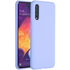 Accezz Liquid Silicone Backcover Samsung Galaxy A50 / A30s - Paars