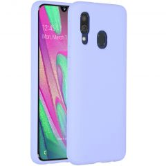 Accezz Liquid Silicone Backcover Samsung Galaxy A40 - Paars