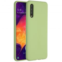 Accezz Liquid Silicone Backcover Samsung Galaxy A50 / A30s - Groen