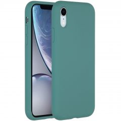 Accezz Liquid Silicone Backcover iPhone Xr - Donkergroen