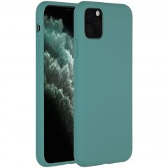 Accezz Liquid Silicone Backcover iPhone 11 Pro Max - Donkergroen