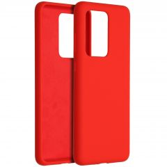 Accezz Liquid Silicone Backcover Samsung Galaxy S20 Ultra - Rood
