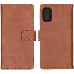 iMoshion Luxe Booktype Samsung Galaxy A41 - Bruin