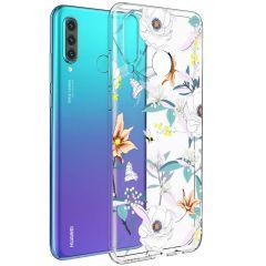iMoshion Design hoesje Huawei P30 Lite - Bloem - Wit