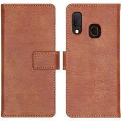 iMoshion Luxe Lederen Booktype Samsung Galaxy A20e - Bruin