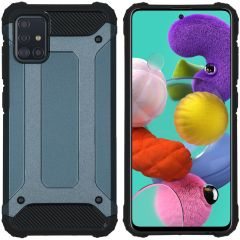 iMoshion Rugged Xtreme Backcover Samsung Galaxy A51 - Donkerblauw