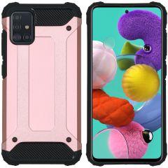 iMoshion Rugged Xtreme Backcover Samsung Galaxy A51 - Rosé Goud