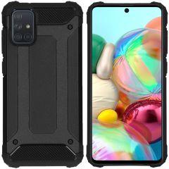 iMoshion Rugged Xtreme Backcover Samsung Galaxy A71 - Zwart