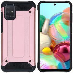iMoshion Rugged Xtreme Backcover Samsung Galaxy A71 - Rosé Goud