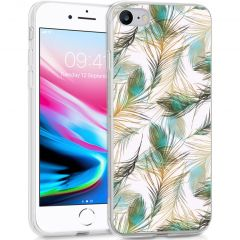 iMoshion Design hoesje iPhone SE (2020) / 8 / 7 / 6s - Pauw - Groen