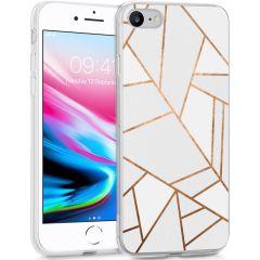 iMoshion Design hoesje iPhone SE (2020) / 8 / 7 / 6s - Grafisch Koper