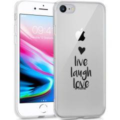 iMoshion Design hoesje iPhone SE (2020) / 8 / 7 / 6 - Live Laugh Love