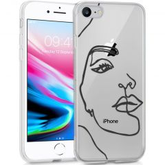 iMoshion Design hoesje iPhone SE (2020) / 8 / 7/6s - Abstract Gezicht