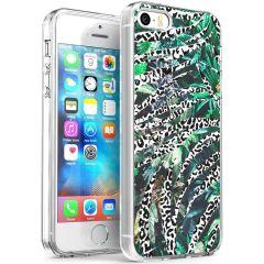 iMoshion Design hoesje iPhone 5 / 5s / SE - Jungle - Wit / Zwart