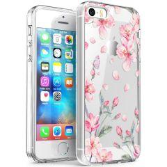 iMoshion Design hoesje iPhone 5 / 5s / SE - Bloem - Roze