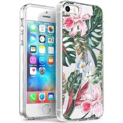 iMoshion Design hoesje iPhone 5 / 5s / SE - Jungle - Groen / Roze