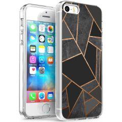 iMoshion Design hoesje iPhone 5 / 5s / SE - Grafisch Koper - Zwart