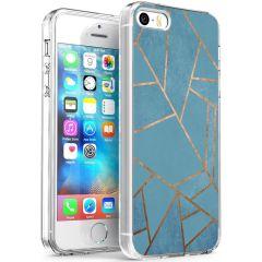 iMoshion Design hoesje iPhone 5 / 5s / SE - Grafisch Koper - Blauw