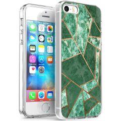 iMoshion Design hoesje iPhone 5 / 5s / SE - Grafisch Koper - Groen