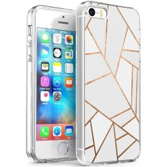 iMoshion Design hoesje iPhone 5 / 5s / SE - Grafisch Koper - Wit